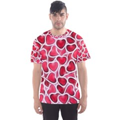 Candy Hearts Men s Sport Mesh Tee by KirstenStar