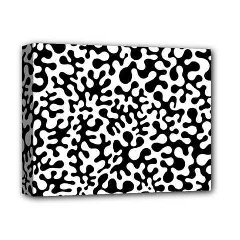 Black And White Blots Deluxe Canvas 14  X 11  (framed) by KirstenStar