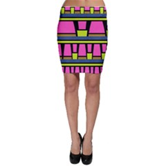 Trapeze And Stripes Bodycon Skirt by LalyLauraFLM