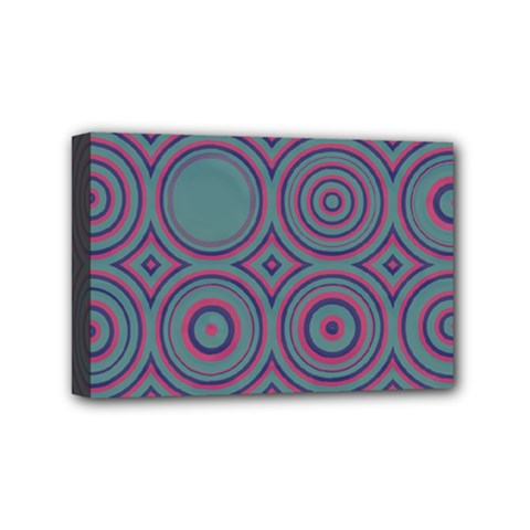 Concentric Circles Pattern Mini Canvas 6  X 4  (stretched) by LalyLauraFLM