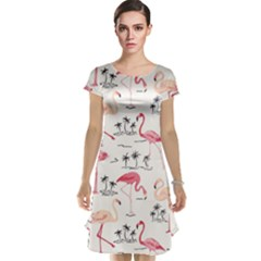 Flamingo Pattern Cap Sleeve Nightdresses by Contest580383