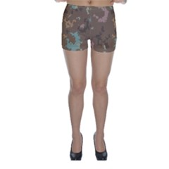 Paint strokes in retro colors Skinny Shorts