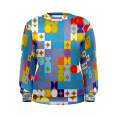 Circles And Rhombus Pattern Sweatshirt
