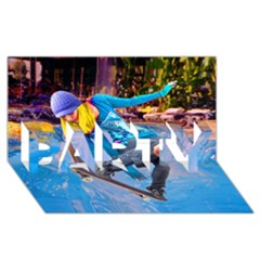 Skateboarding On Water Party 3d Greeting Card (8x4)