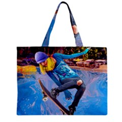 Skateboarding On Water Zipper Tiny Tote Bags by icarusismartdesigns
