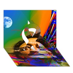 Dream Of Salvador Dali Ribbon 3d Greeting Card (7x5)  by icarusismartdesigns