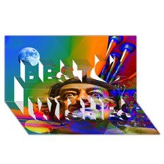 Dream Of Salvador Dali Best Wish 3d Greeting Card (8x4)  by icarusismartdesigns