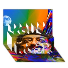 Dream Of Salvador Dali You Rock 3d Greeting Card (7x5)  by icarusismartdesigns