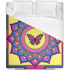Butterfly Mandala Duvet Cover Single Side (double Size) by GalacticMantra