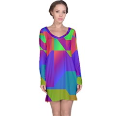 Colorful Gradient Shapes Nightdress by LalyLauraFLM