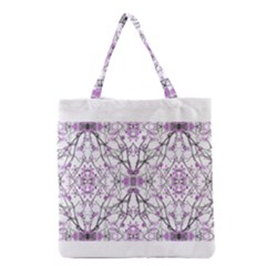 Geometric Pattern Nature Print  Grocery Tote Bags by dflcprints
