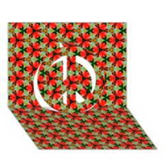 Lovely Trendy Pattern Background Pattern Peace Sign 3d Greeting Card (7x5)
