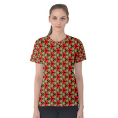 Lovely Trendy Pattern Background Pattern Women s Cotton Tees by creativemom