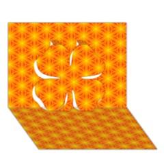 Cute Pretty Elegant Pattern Clover 3d Greeting Card (7x5)  by creativemom