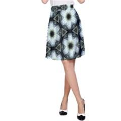 Faux Animal Print Pattern A Line Skirts