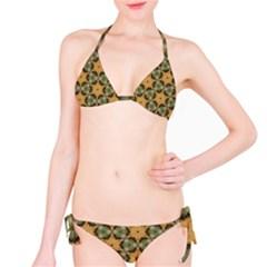 Faux Animal Print Pattern Bikini Set