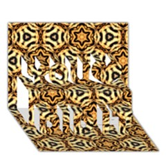 Faux Animal Print Pattern You Did It 3d Greeting Card (7x5) by creativemom