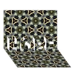 Faux Animal Print Pattern HOPE 3D Greeting Card (7x5)