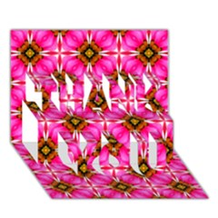 Cute Pretty Elegant Pattern Thank You 3d Greeting Card (7x5)