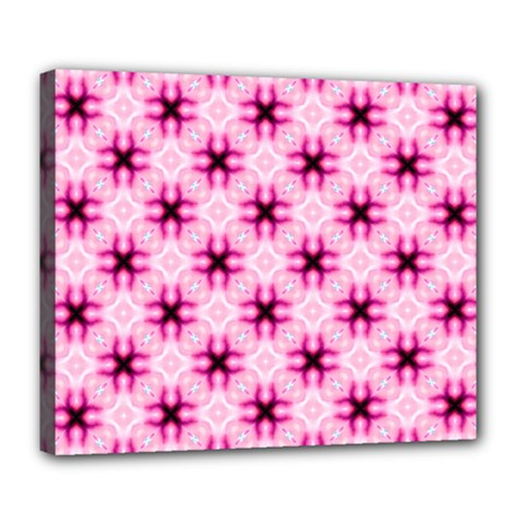 Cute Pretty Elegant Pattern Deluxe Canvas 24  x 20   by creativemom