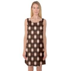 Cute Pretty Elegant Pattern Sleeveless Satin Nightdresses