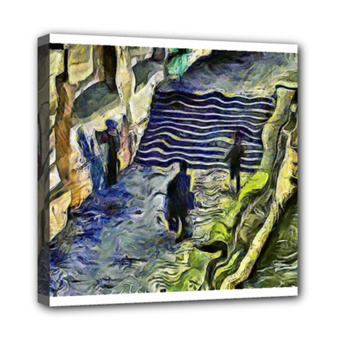 Banks Of The Seine KPA Mini Canvas 8  x 8  by karynpetersart