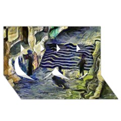 Banks Of The Seine Kpa Twin Hearts 3d Greeting Card (8x4)