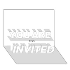 Comic Book Zap! You Are Invited 3d Greeting Card (7x5)  by ComicBookPOP