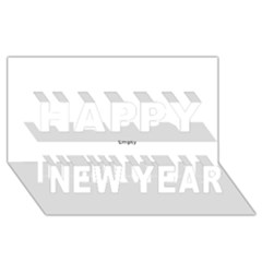 Comic Book Zap! Happy New Year 3d Greeting Card (8x4)  by ComicBookPOP