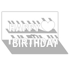 I USED TO CARE Happy Birthday 3D Greeting Card (8x4)  by ScienceGeek