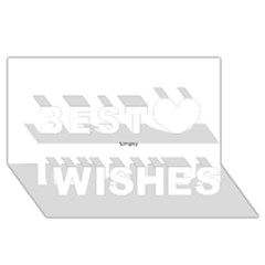 Cannabis Leaf Circle Best Wish 3d Greeting Card (8x4)  by ScienceGeek
