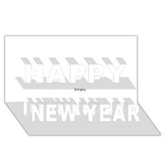 Multi Col Pills Pattern Happy New Year 3d Greeting Card (8x4)