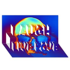 Skull Laugh Live Love 3d Greeting Card (8x4)  by icarusismartdesigns