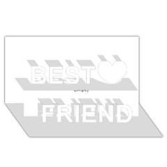 USA Hearts Flag Best Friends 3D Greeting Card (8x4)  by theimagezone