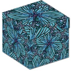 Modern Floral Collage Pattern Storage Stool 12   by dflcprints