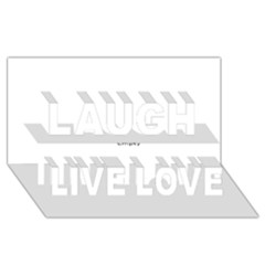 Usa States Flag Laugh Live Love 3d Greeting Card (8x4)  by theimagezone