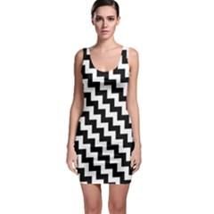 Black And White Zigzag Bodycon Dresses by ElenaIndolfiStyle