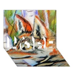 Wolfpastel HOPE 3D Greeting Card (7x5)  by LokisStuffnMore