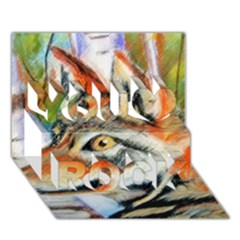 Wolfpastel You Rock 3d Greeting Card (7x5)  by LokisStuffnMore