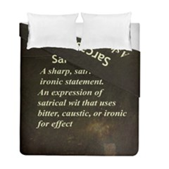 Sarcasm  Duvet Cover (twin Size) by LokisStuffnMore