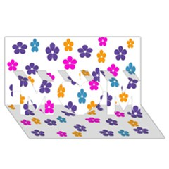 Candy Flowers Mom 3d Greeting Card (8x4)