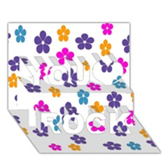 Candy Flowers You Rock 3d Greeting Card (7x5)