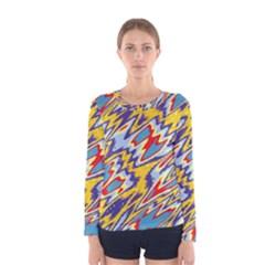 Colorful Chaos Women Long Sleeve T Shirt by LalyLauraFLM