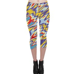 Colorful Chaos Capri Leggings