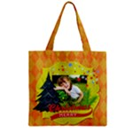 xmas - Zipper Grocery Tote Bag