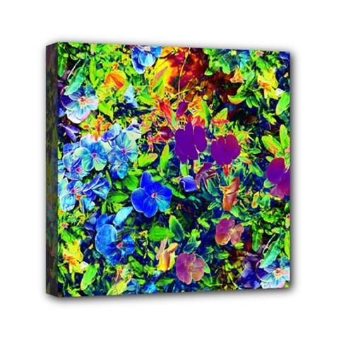 The Neon Garden Mini Canvas 6  X 6  by rokinronda