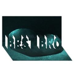 Teal Heart BEST BRO 3D Greeting Card (8x4)