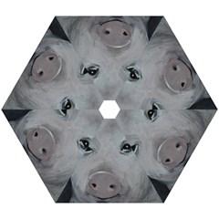 Piggy No. 1 Mini Folding Umbrellas by timelessartoncanvas