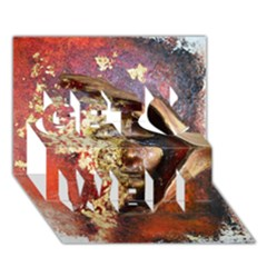 Red Mask Get Well 3d Greeting Card (7x5)  by timelessartoncanvas