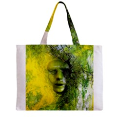 Green Mask Zipper Tiny Tote Bags by timelessartoncanvas